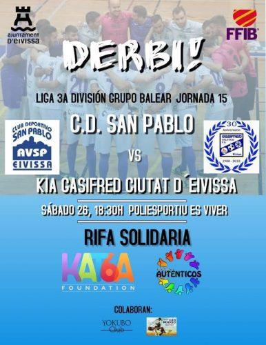 Cartel Rifa Futsal en Ibiza